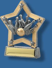 Tenpin bowling trophy star