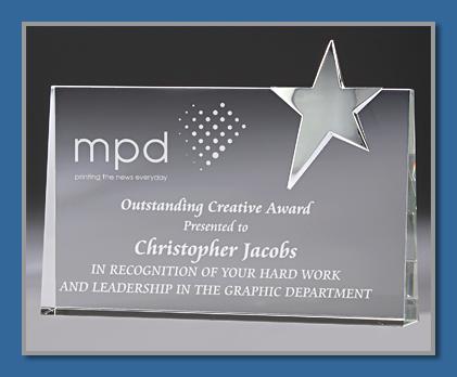 Chrome and glass award