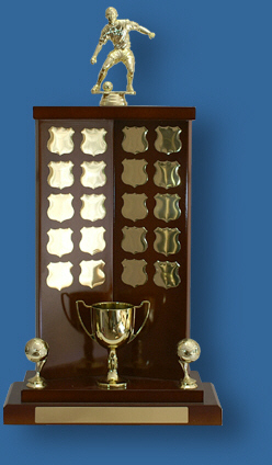 Perpetual Trophies ALVI-2s Timber award with gold plates