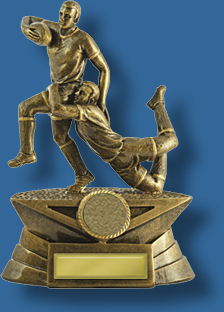 Rugby Trophy Male Resin. Contest Series. Can be engraved.
