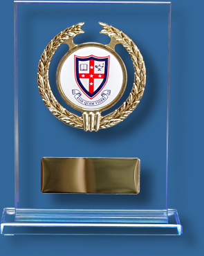 School Trophy custom crest