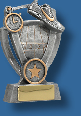 Silver stopt watch and Athletics track shoe award