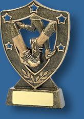 Gold shield track Athletics trophy