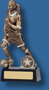 Soccer trophy 10 Antique gold action figure