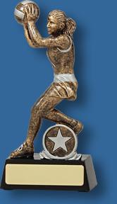 Netball figure trophy