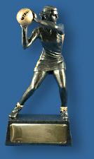 Netball trophy figurine