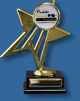 Gold Star Trophy with 50mm Insert
