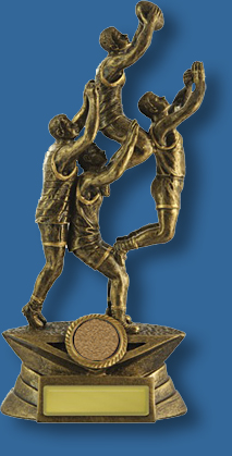 Gold Aussie Rules players trophy