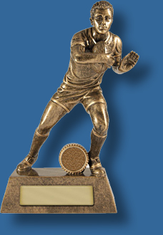 Rugby Trophy Male Resin. Fend Rugby Series. Can be engraved.