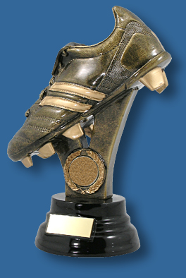 Aussie Rules gold boot on riser award