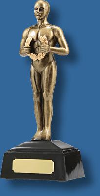 Bronze achievement trophy