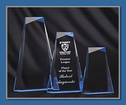 Blue acrylic award