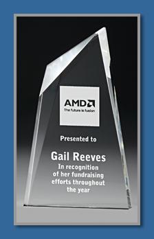 30mm thick acrylic award