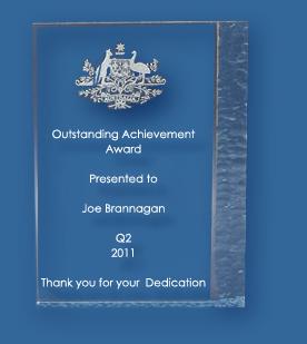 Etched Acrylic Award