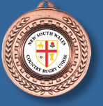 50mm bronze rugby medal