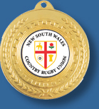 Gold rugby medal