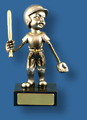 Silver Flexi Baseball trophy