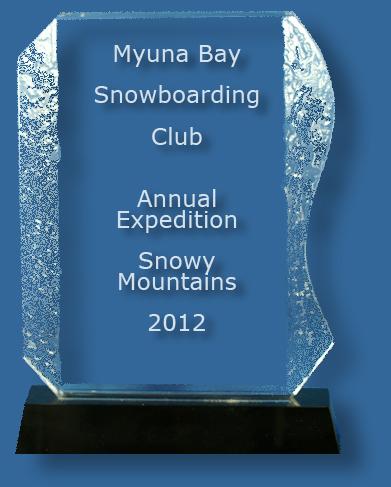 Black crystal trophy