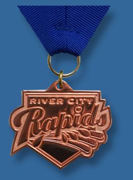 Bronze special shape cast medal.