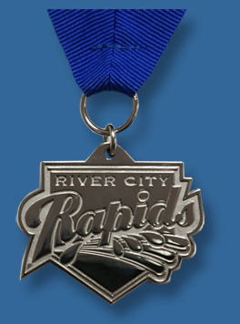 Silver special shape cast medal.