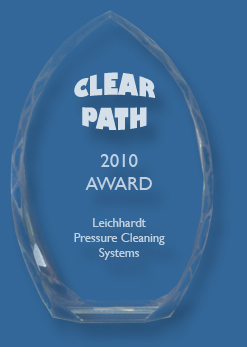 Crystal arch glass trophy