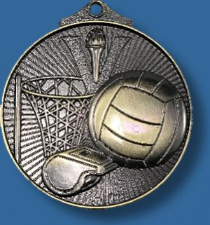 Netball medal with ring