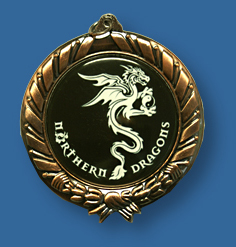 Bronze medal with dragon
