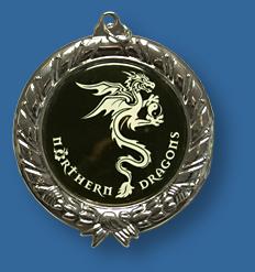 Custom insert silver medal