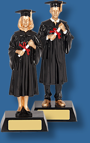 University graduands figurines
