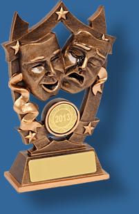 Gold drama trophy