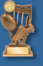 Gold Aussie Rules trophy