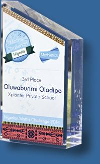 Solid crystal award trophy metal plate