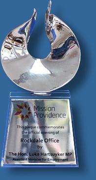 Premium silver and glass award