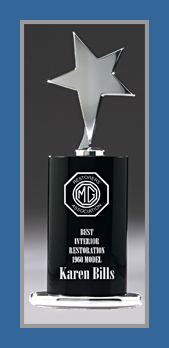 Black chrome trophy 8