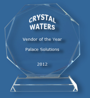 Faceted clear glass award
