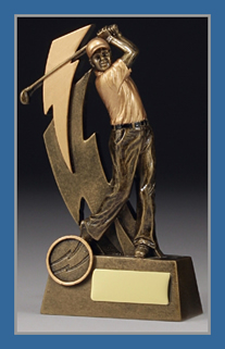 Gold Golf driver figure trophy