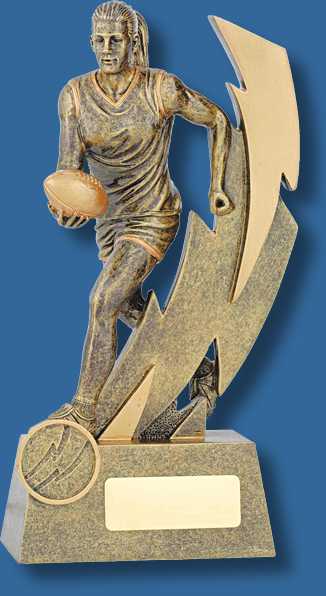 Female action figure Aussie Rules trophy