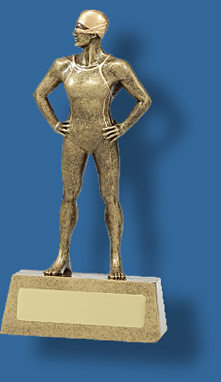 Female swimming figure on dias