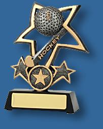 Gold star Hockey trophy