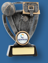 Silver Basketball collage trophy