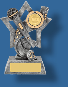 Music Trophy Generic Resin. Star Music collage trophy