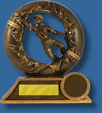 Bronze breahthrough cricket fielding trophy