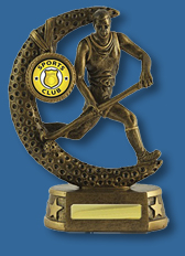 Gold male Hockey action figure trophy