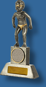 Male swimming trophy tiny tots