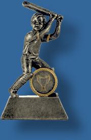 Small silver Cricket batsman award