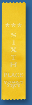 6th place ribbon