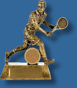 Tennis trophy male backhand