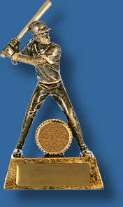 Gold Softball action figure trophy