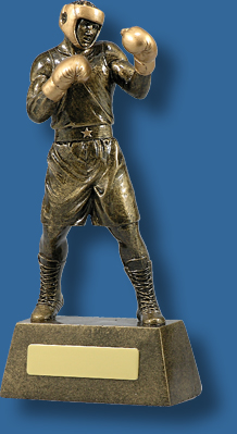 Gold Boxing action figure trophy