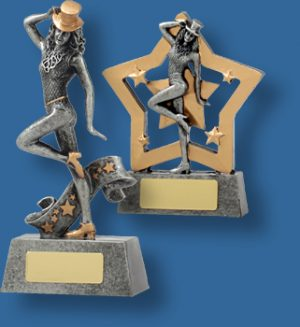 Silver female Dance collage trophy